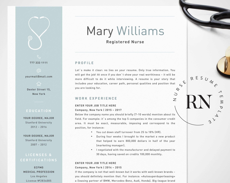 Nursing Resume Template Word