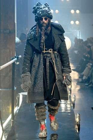 Homeless Haute Couture Mens Fashion Classic John Galliano Mens Fashion