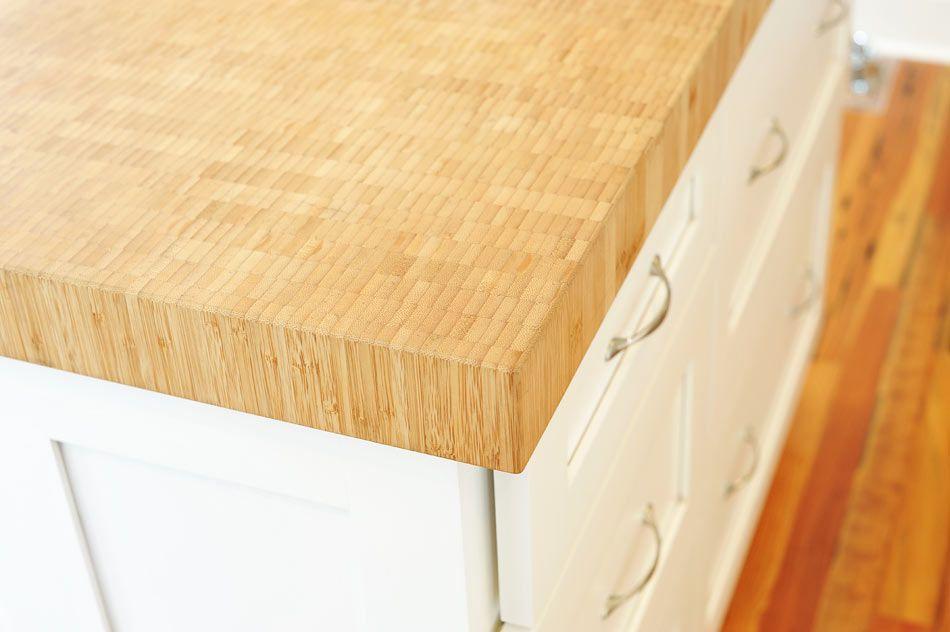 Bamboo butcher block countertop for delaware kitchen