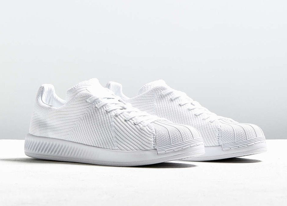 #sneakers #news adidas Superstar Bounce Primeknit – Triple White