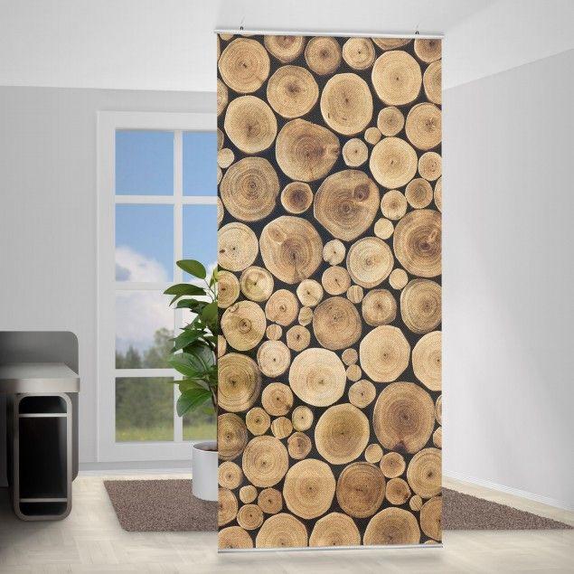 Raumteiler Homey Firewood 250x120cm Mit Bildern