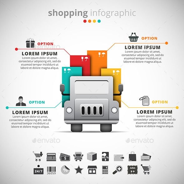 Shopping Infographic | Shopping, Infographic templates and Infographic