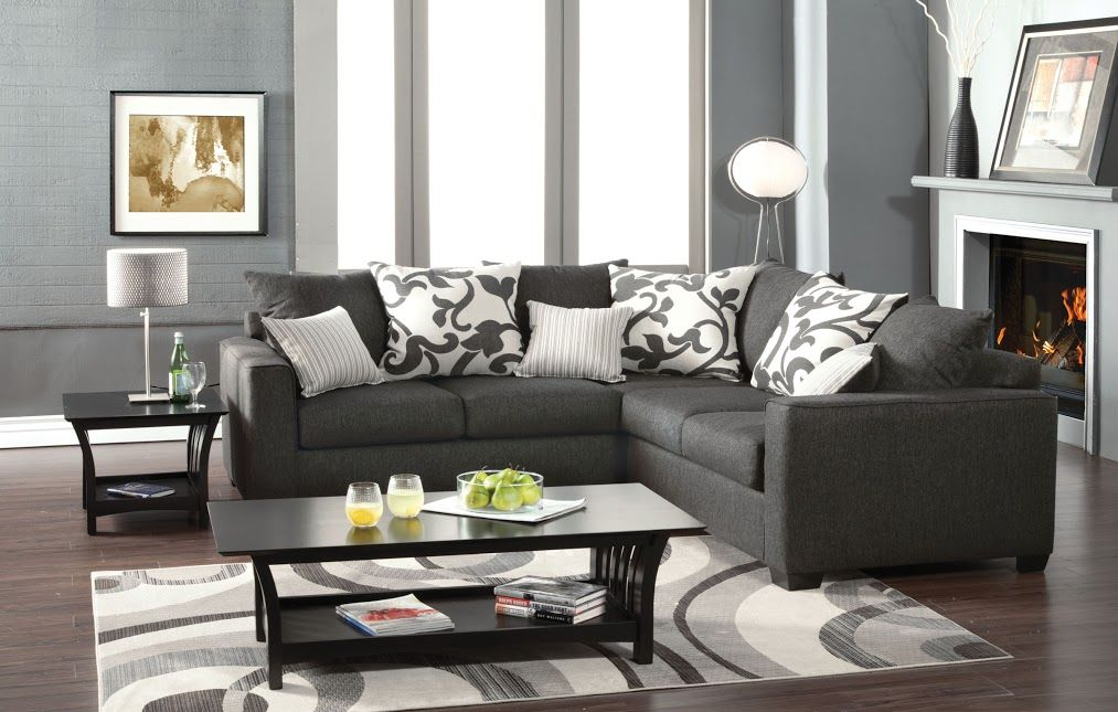 Cranbrook 3015 Charcoal Sectional Sofa in 2019 | small ...