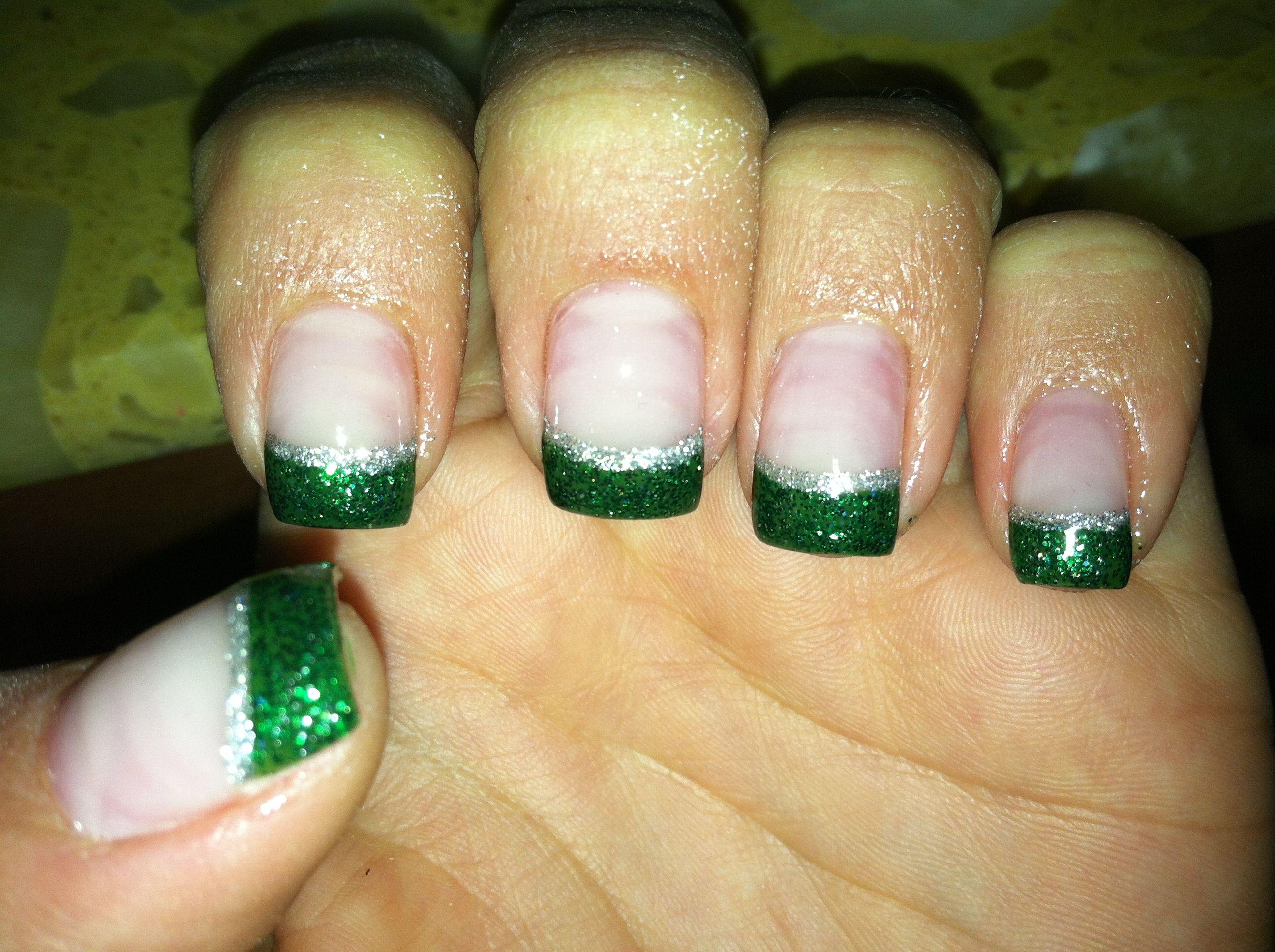 Christmas French manicure! #nails | I <3 Christmas | Pinterest ...