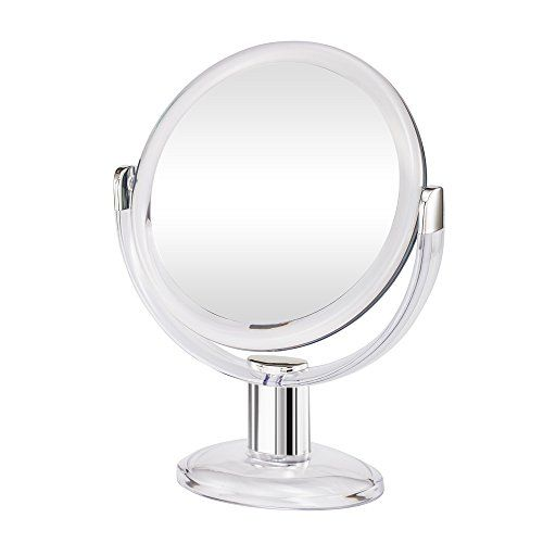 Gotofine Double Sided Magnifying Makeup Mirror 1x 10x Magnification With 360 Degree Rotation Clear Makeup Mirrors Makeup Mirror Makeup Mirror With Lights