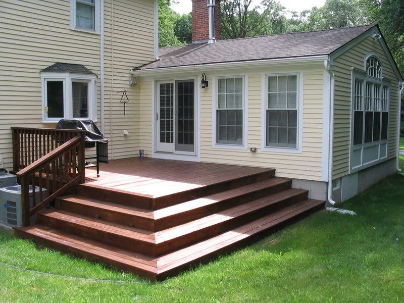Deck Stairs With Elegant Model