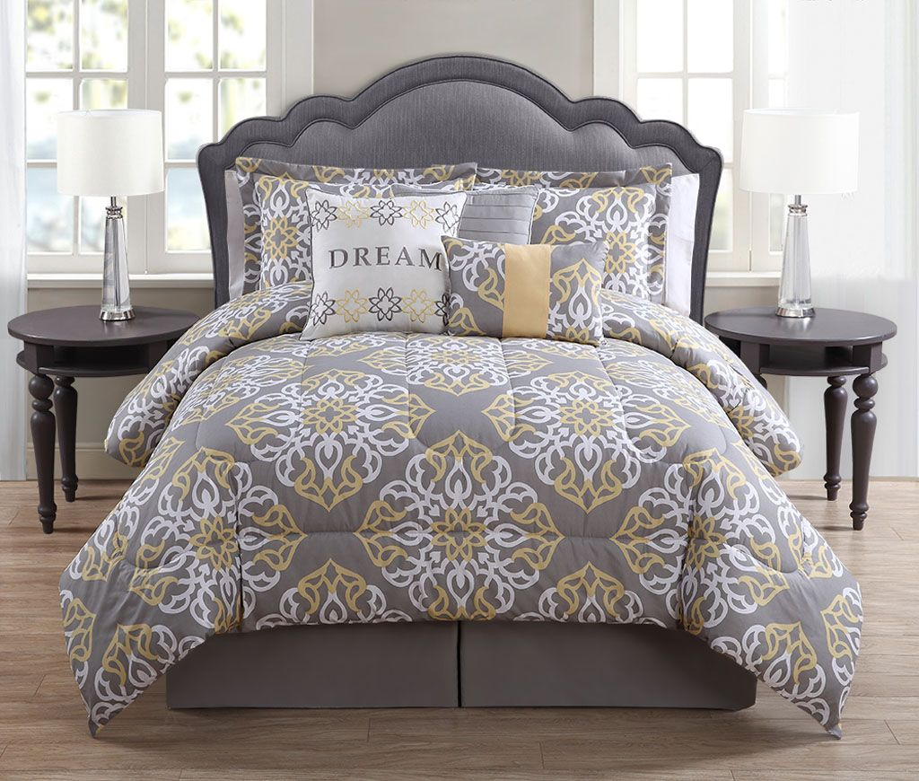 piece dream mintcharcoalwhite print comforter set  my dream  -  piece dream mintcharcoalwhite print comforter set  my dream home pinterest  comforter grey yellow and master bedroom