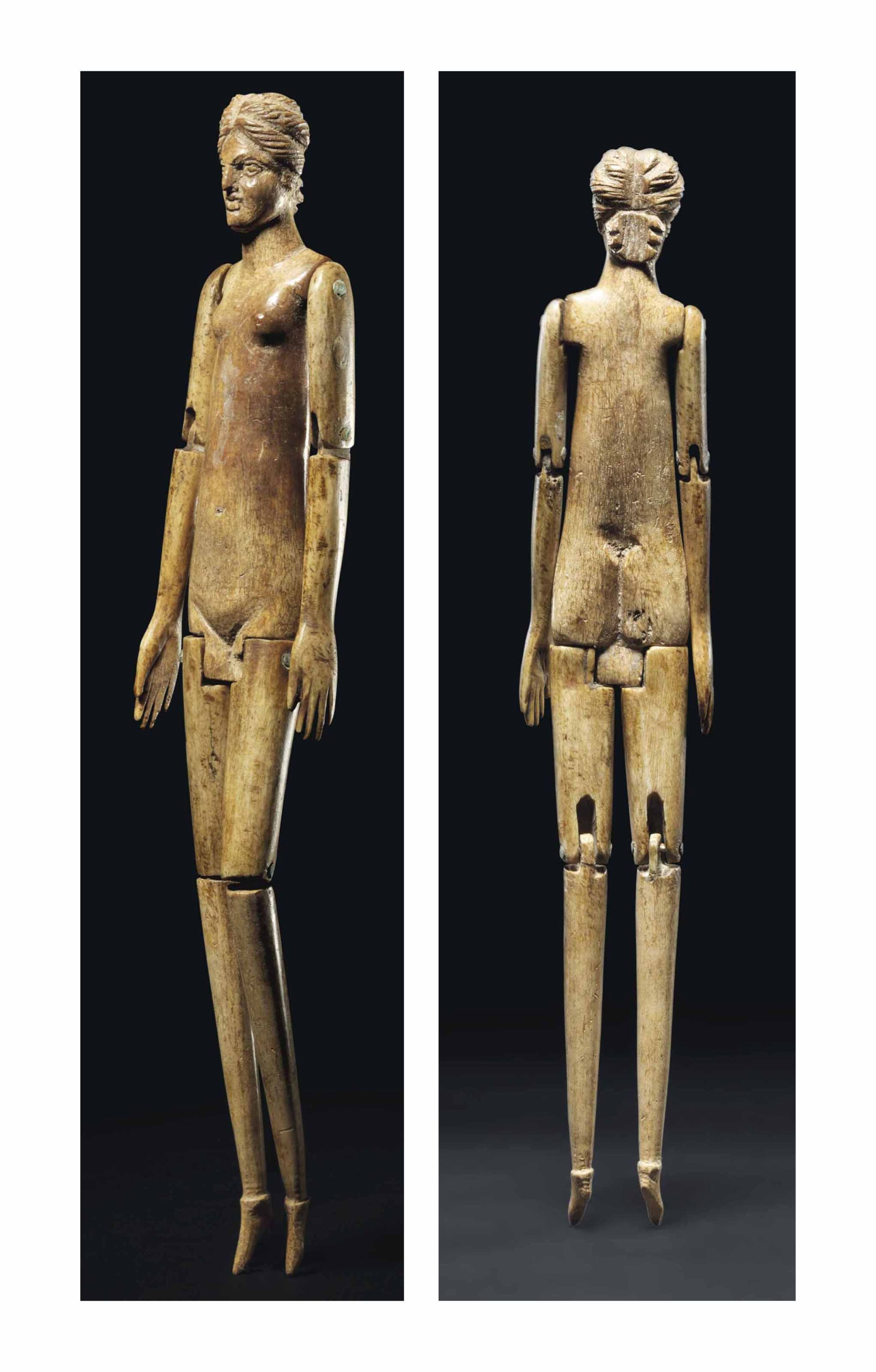 Roman bone articulated doll from the 2nd century #AncientCivilizations #AncientDolls