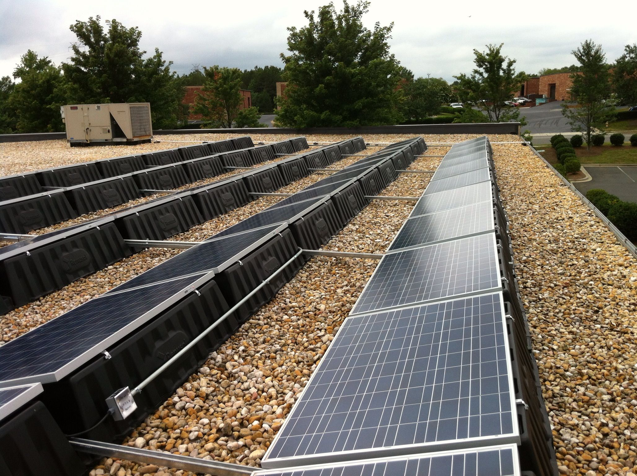 hight resolution of side view of solar panel install charlotte nc