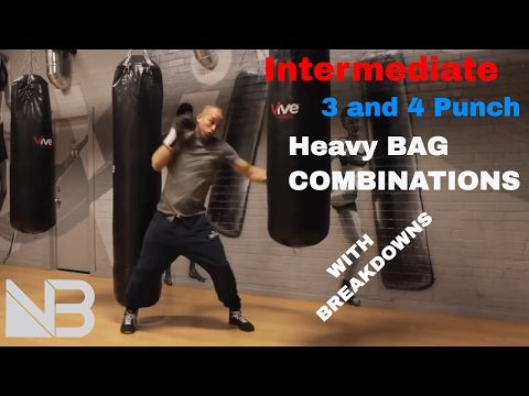 Intermediate Heavy Bag Combinations Session 1 Youtube Boxer Workout Heavy Bag Training Heavy Bags