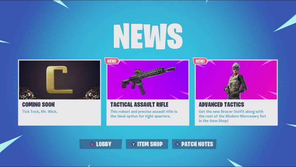 Epic Games Drops More Teasers On Rumored John Wick Event Fortnite Battle Royale Patch V9 01 Landed On May 15 And A Couple More Hi Epic Games Teaser Game Drop