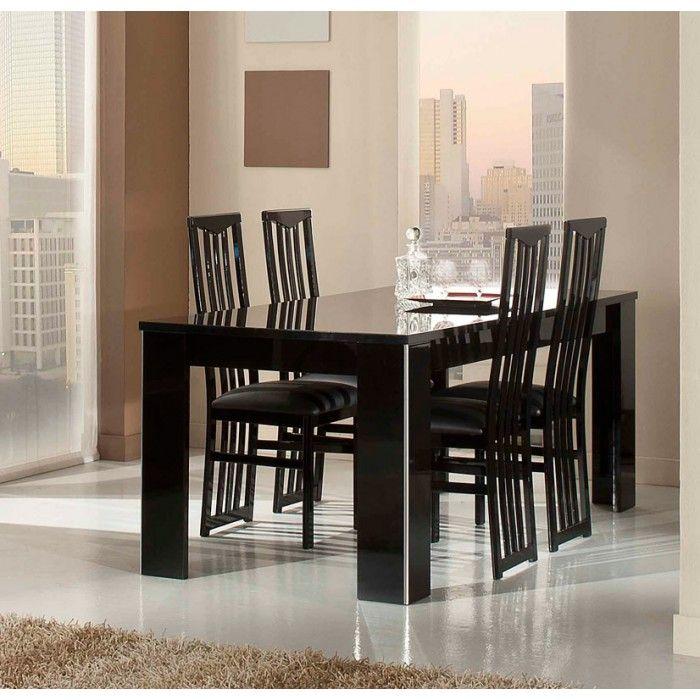 Elite Modern Italian Black Lacquer Dining Table Interior Design Dining Room Dining Table Black Black Dining Room