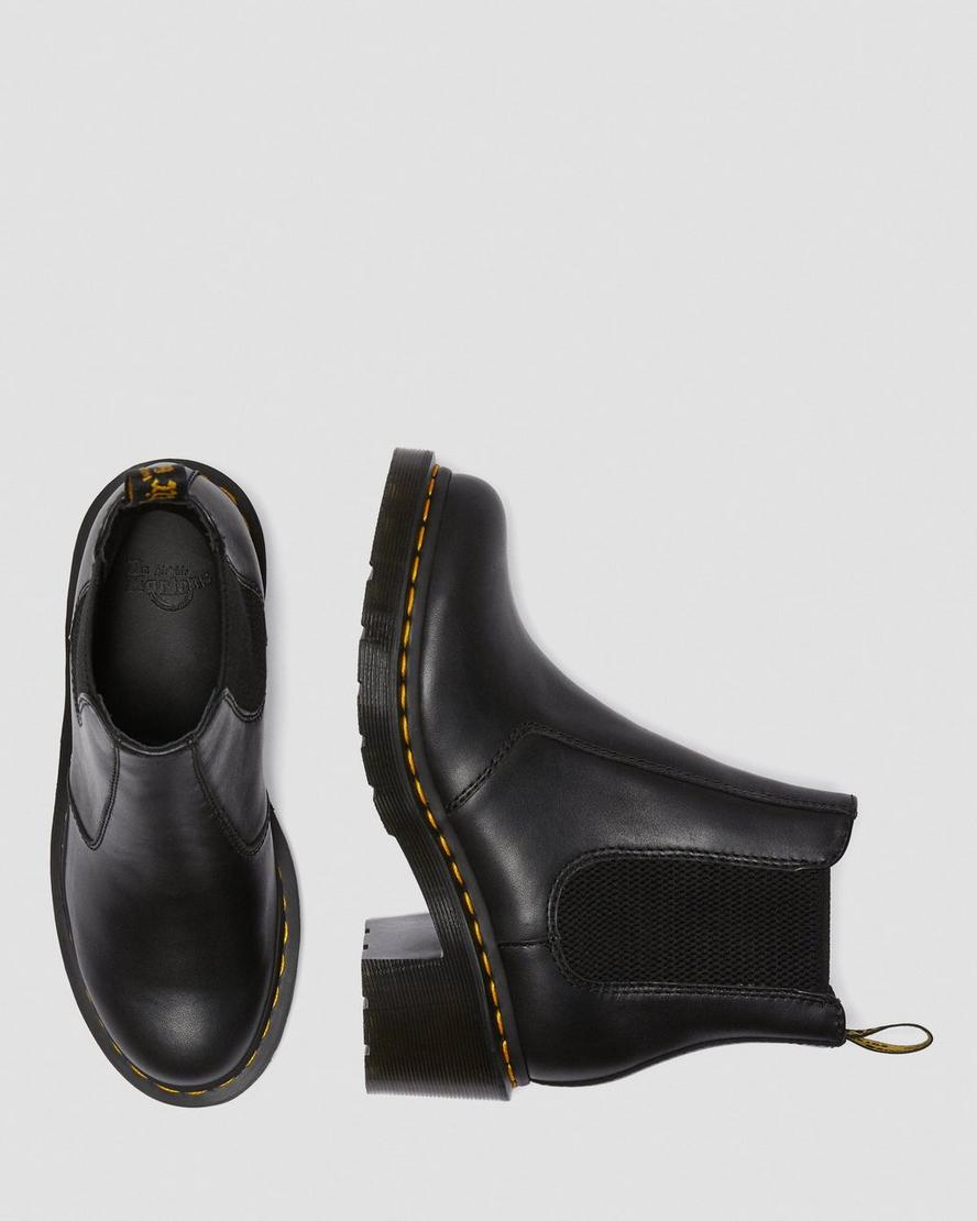 LEATHER HEELED CHELSEA BOOTS