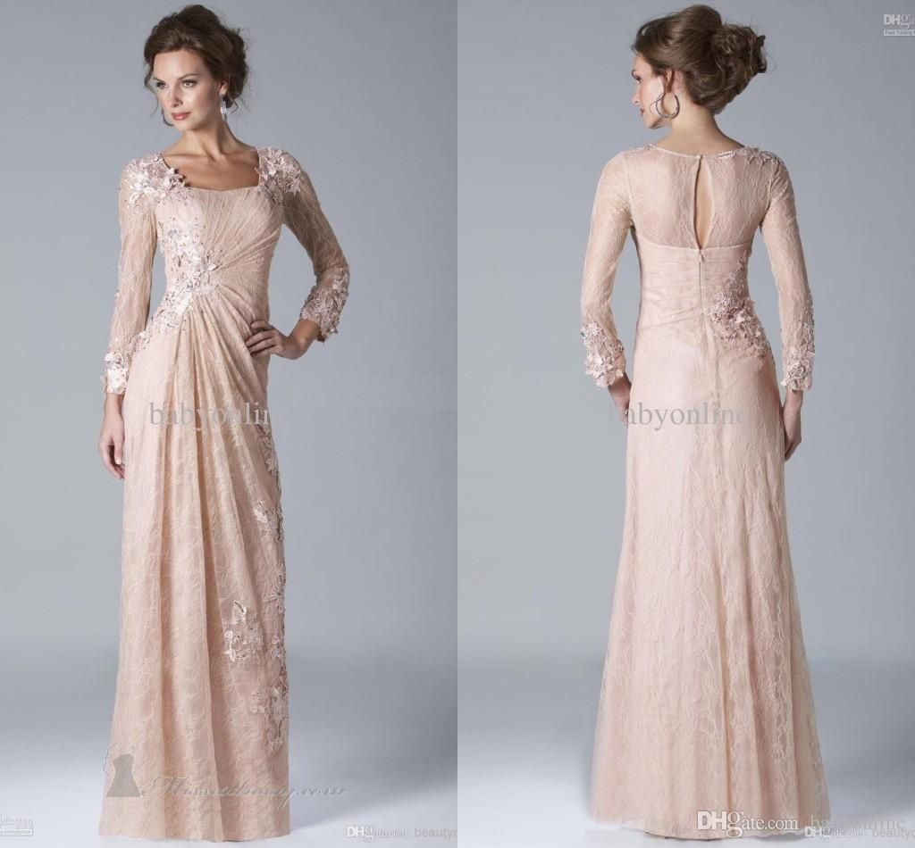 Petite mother of the groom dresses autumn winter long sleeves