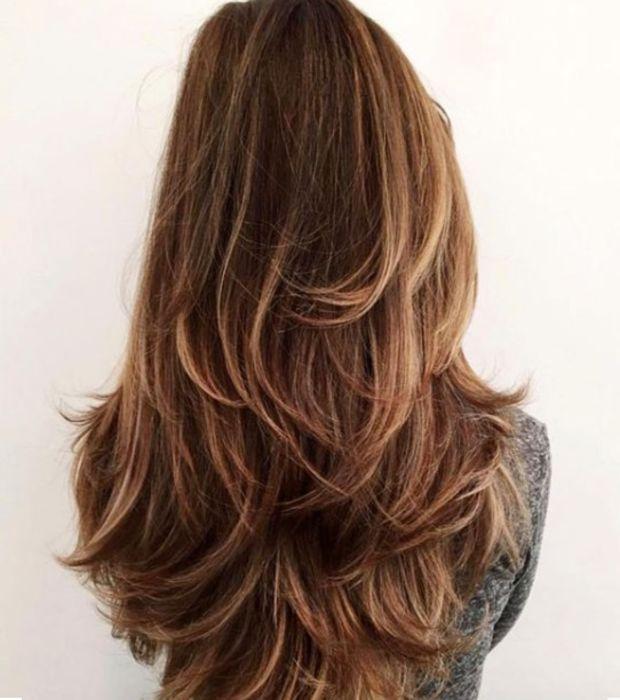 La coupe cheveux long degrade