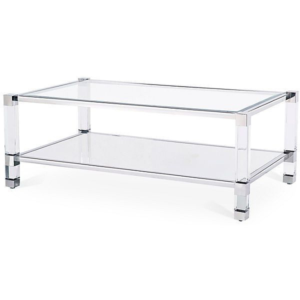 Blink Home Santa Monica Coffee Table Silver Acrylic / Lucite Coffee...  ($1,199