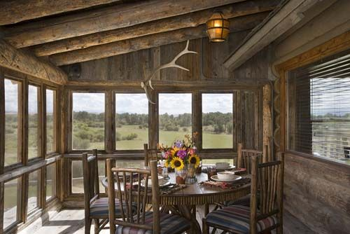 Rustic Screened Porch Rustic Porch Rustic House House With Porch