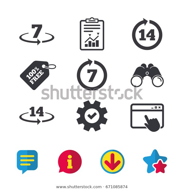 Return Goods Within 7 14 Days Stock Vector (Royalty Free