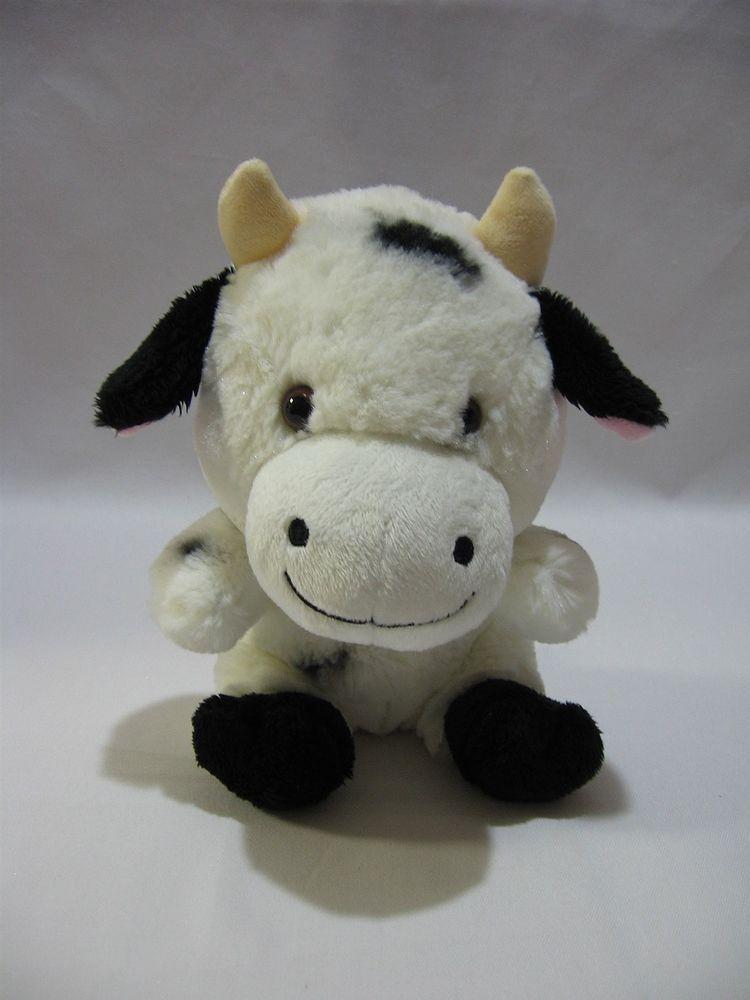 Build A Bear Smallfrys Cow 8 Plush Black White Stuffed Animal Toy