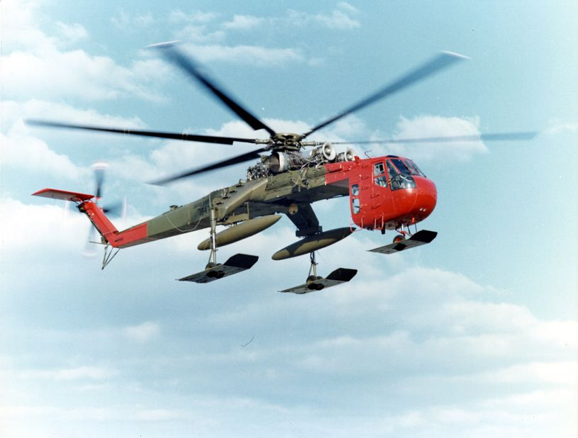 sky crane | File:Sikorsky Skycrane CH-54B c.jpg