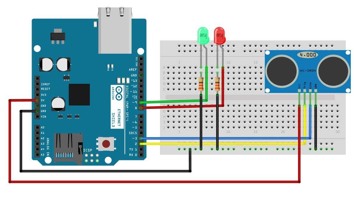 Ultrasonic Distance Sensor Using Arduino Earth Bondhon Arduino Arduino Radio Sensor