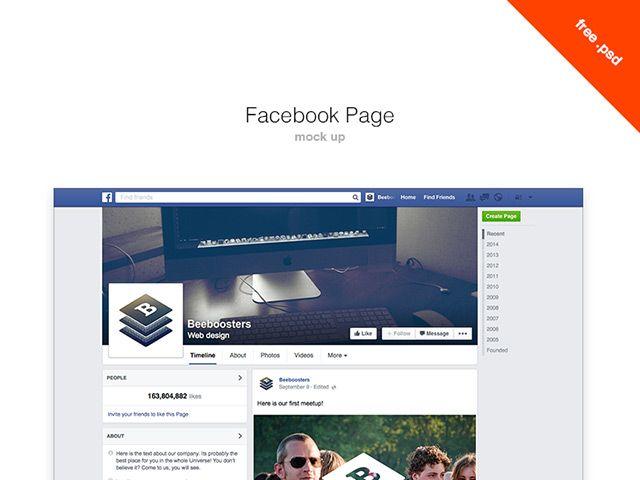 Facebook timeline mockup psd | web / UI | Pinterest | Facebook ...