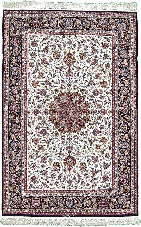 Ivory 4 11 X 7 6 Isfahan Rug Persian Rugs Esalerugs Rugs On Carpet Carpet Handmade Persian Rug