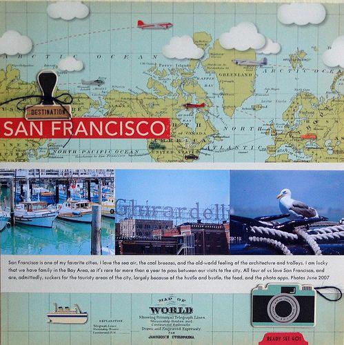 Vivian Masket Boarding Pass Pinterest Layouts Scrapbook