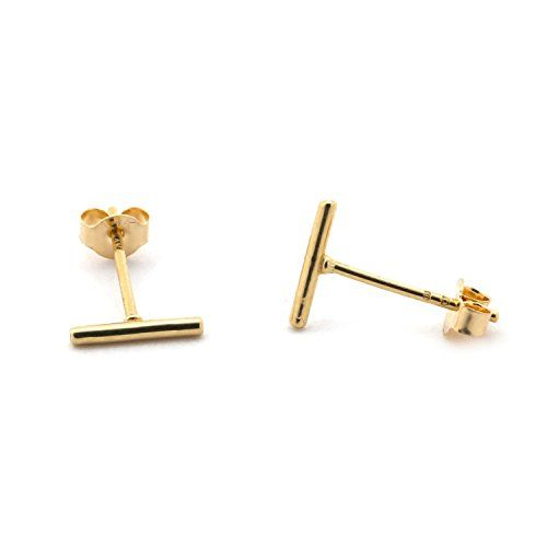 14k Yellow Gold Wire Bar Earrings >>> Check out the image by visiting the link.(This is an Amazon affiliate link and I receive a commission for the sales)