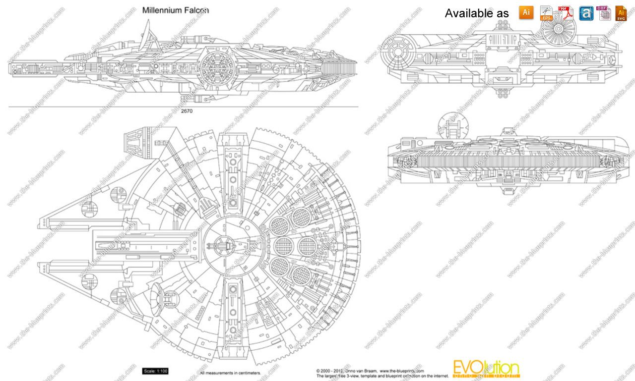 Star wars falcon millenium paper template the blueprints star wars falcon millenium paper template the blueprints vector drawing malvernweather Choice Image
