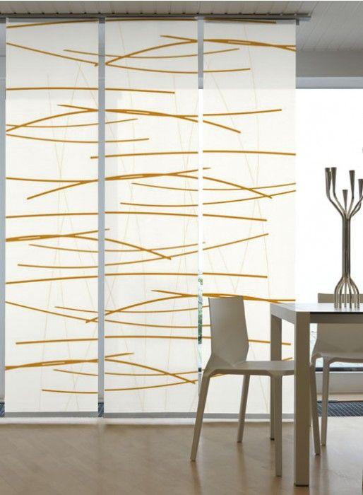fl chenvorhang gardine querstreifen orange 3er set im m bel onlineshop g nstig. Black Bedroom Furniture Sets. Home Design Ideas
