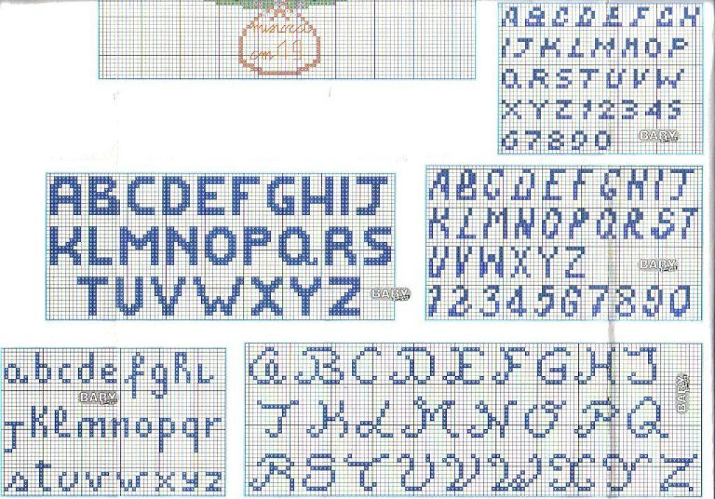 Letras para baberos | Cross Stitch Alphabets | Cross stitch alphabet ...