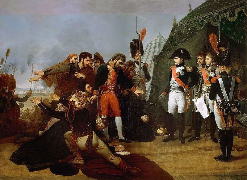 Napoleon Accepts The Surrender Of Madrid 4 December 1808 Antoine Jean Gros Napoleon Napoleonic Wars First French Empire