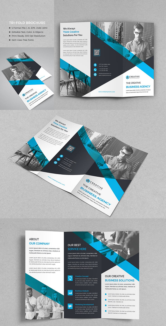 Corporate Tri Fold Brochure A4 Size Brochure Templates Psd Free Download Brochu Free Brochure Template Brochure Design Template Trifold Brochure Design