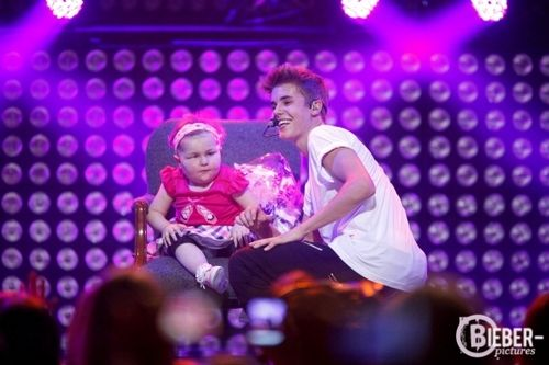 aww. Justin with Avalanna, she was his OLLG. :')