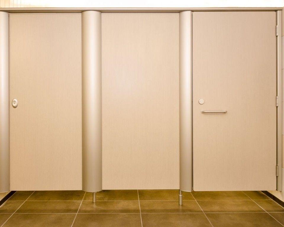 bathroom stall door adjustment