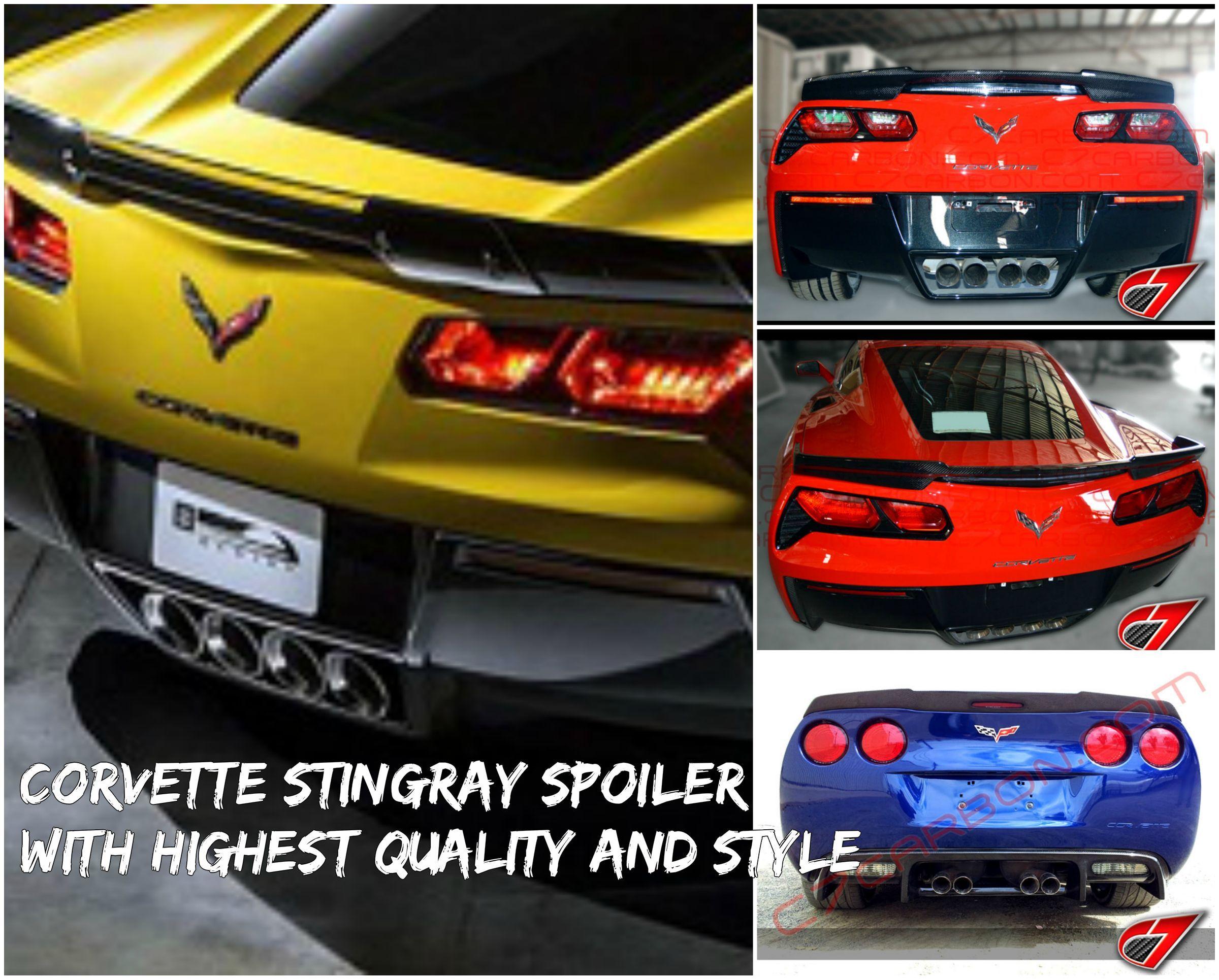 Corvette Stingray Spoiler And Corvette Stingray Carbon Fiber Parts Are Lightweight Strong And Very Durable Increa Corvette Stingray Corvette Mitsubishi 3000gt