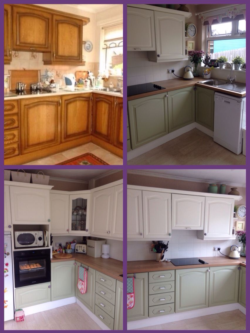 My kitchen make over.....I used ronseal kitchen cupboard ...