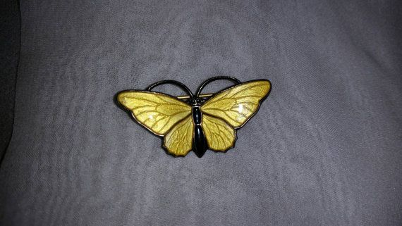 Vintage David Anderson YELLOW Enameled by PastPossessionsOnly