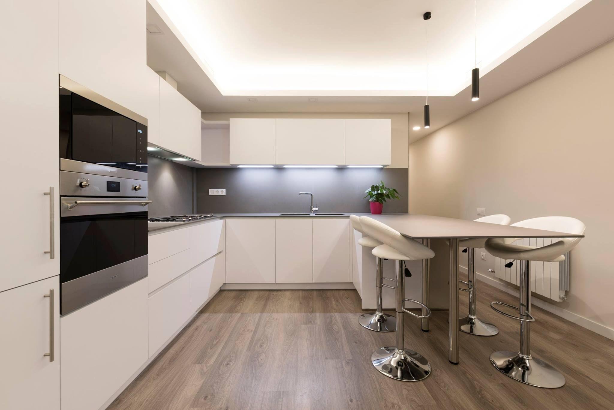Magnífico Gris Y Blanco Ideas De Cocina Imágenes - Ideas de ...
