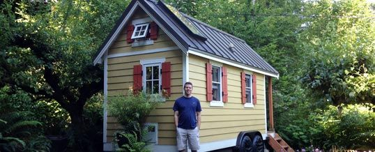 Here I Am In Front Of Brittany Yunker S Tiny House In