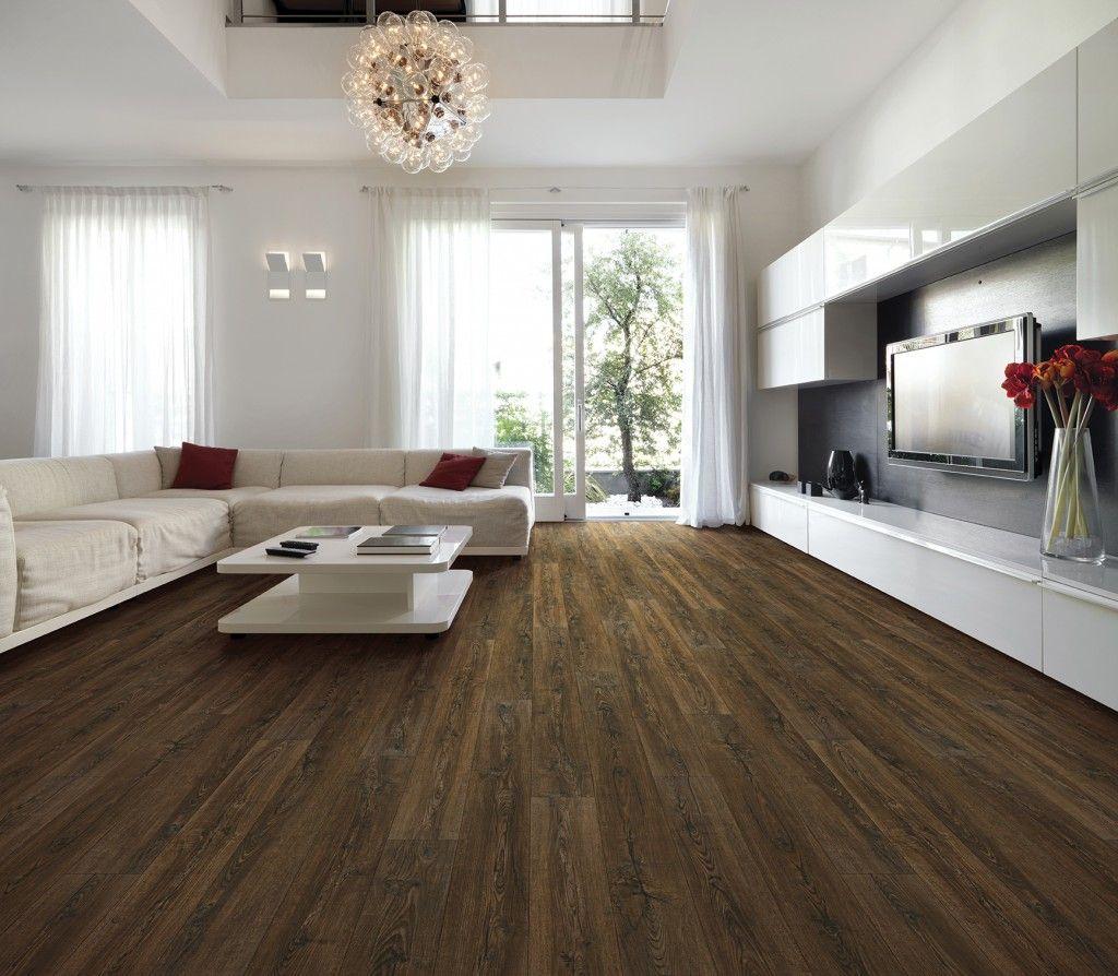 COREtec Plus HD Smoked Rustic Pine Engineered Vinyl Plank