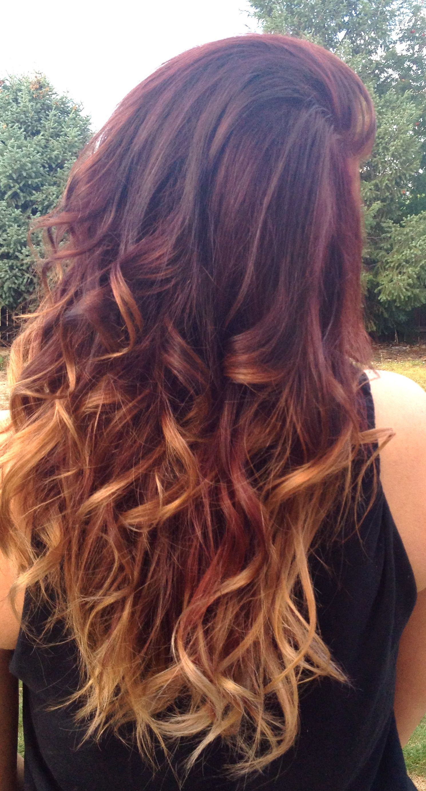 to wear - Ombre auburn hair straight video