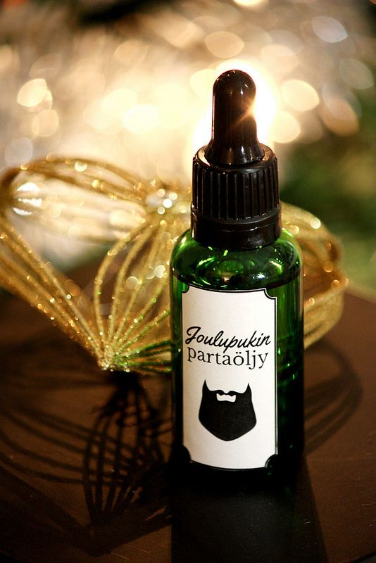 DIY-lahjaidea miehelle: Itse tehty partaöljy. Valmistusohje blogissa. / DIY beard oil. Perfect homemade gift idea for him.