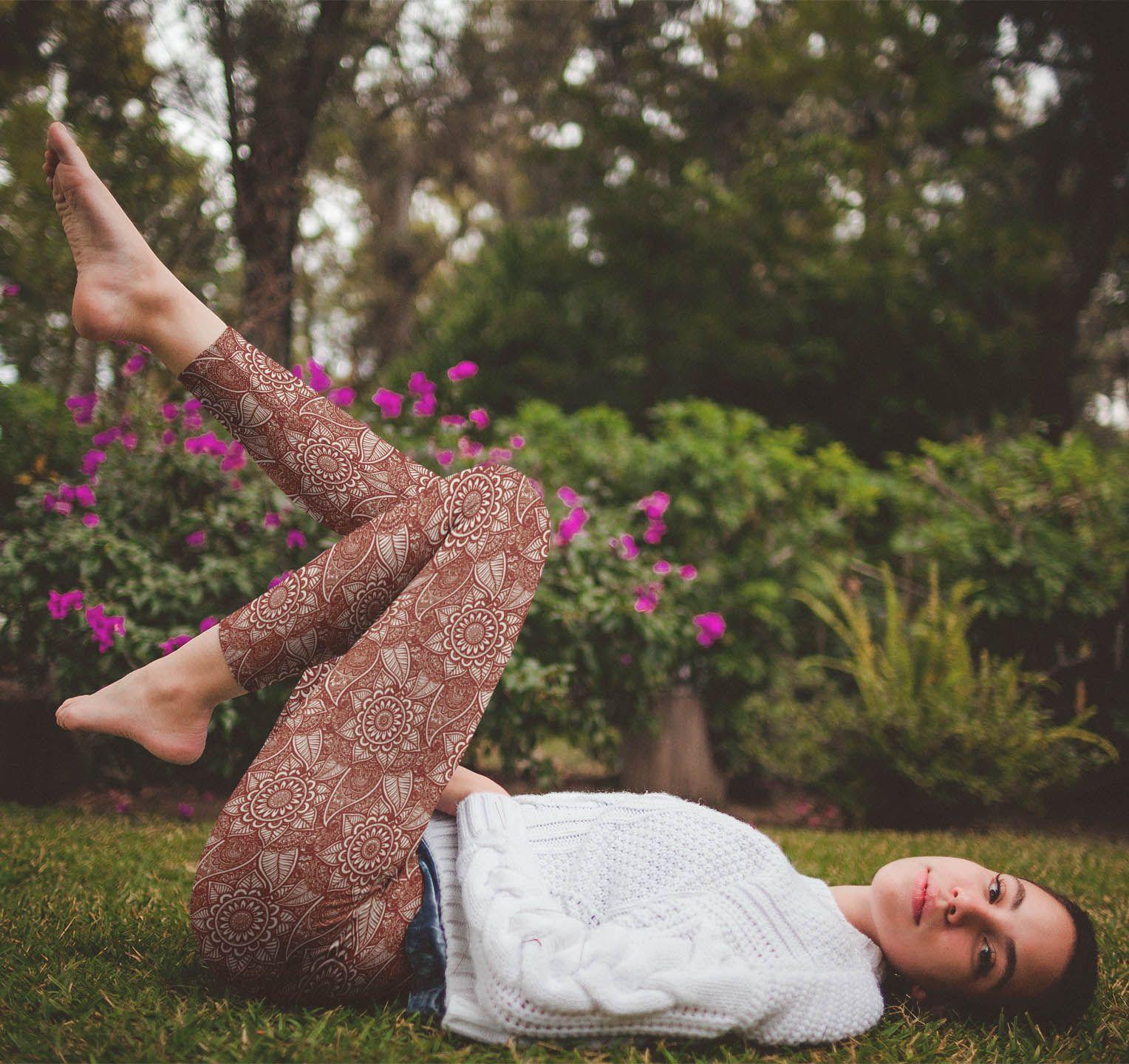eca44976292f0f Ornamental Design mehndi design yoga leggings. Vosenta #Mehndi Collection  Yoga Leggings $52.90 #style