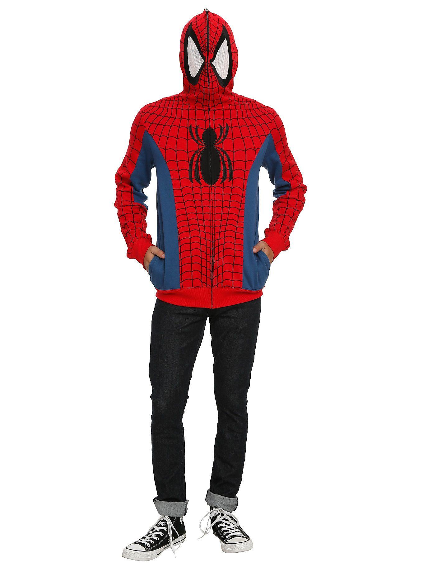 Marvel Spider-Man Cosplay Full Zip Hoodie