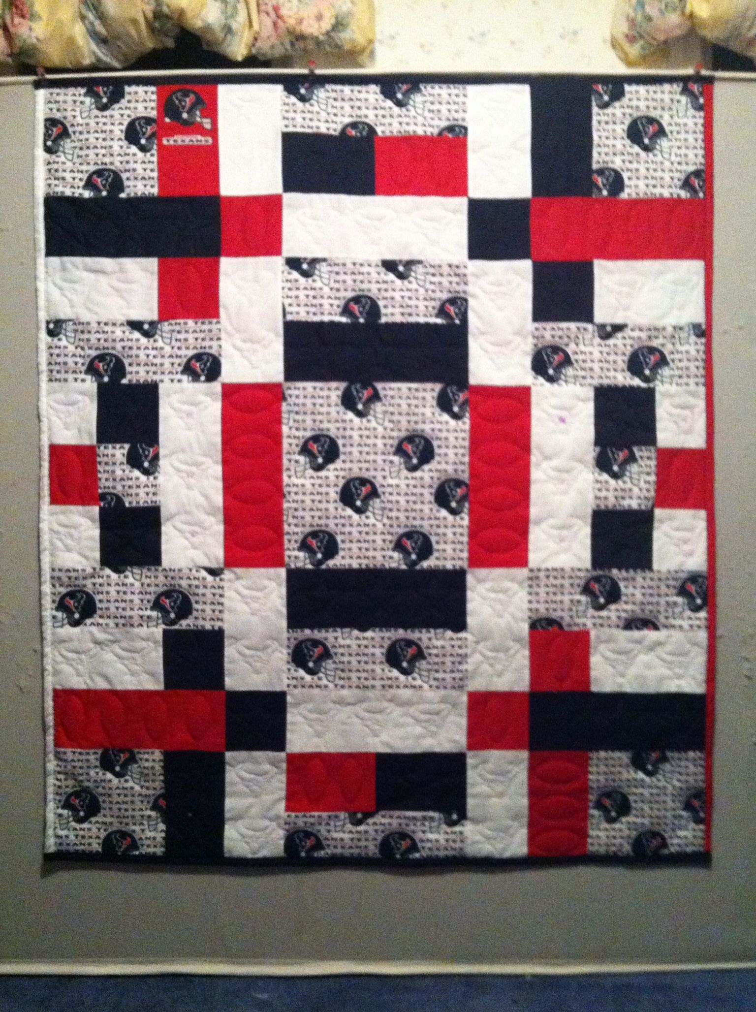 Houston Texans quilt. Hand quilted | Decorating | Pinterest | Hand ... : quilting houston - Adamdwight.com
