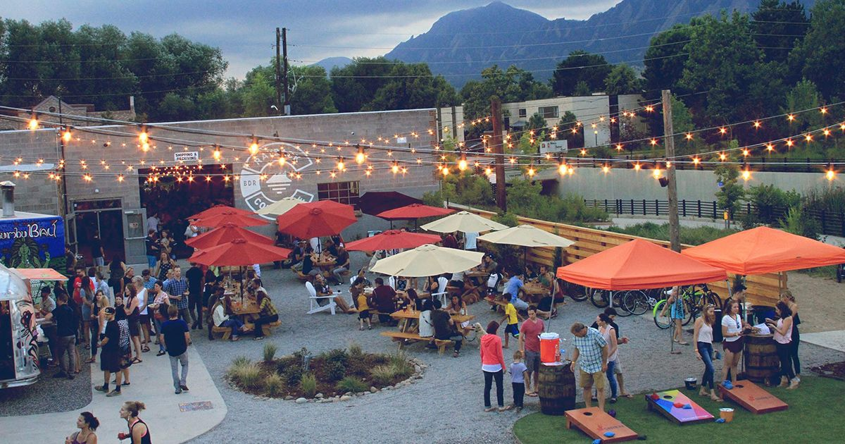 Rayback Collective Is Boulder S First Ever Food Truck Park A Beer Garden And A Live Music Venue Beer Garden Bouldering Food Truck Festival