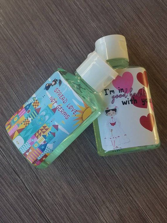 Mary Poppins Inspired Hand Sanitizer Favors