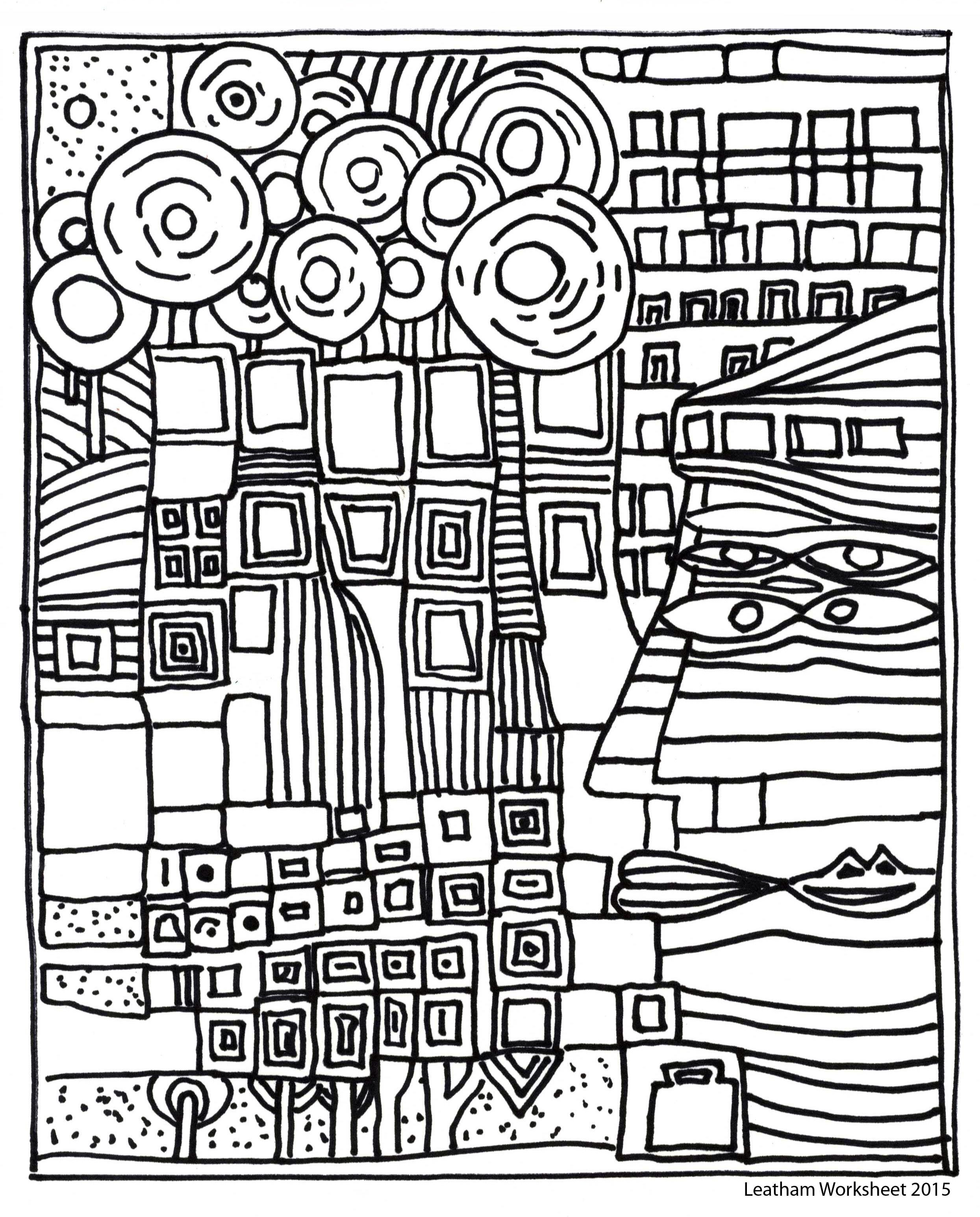Hundertwasser Style line art Feel free to use it